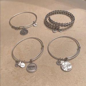 Alex and Ani set of four bangles